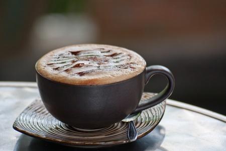 closeup tasse de caf� sur la table
