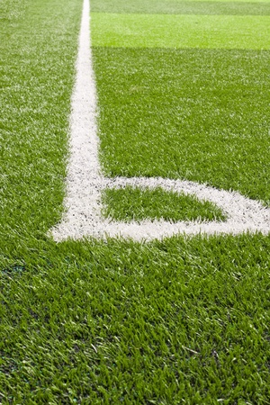 soccer field corner Stock Photo - 11707017