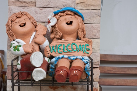Welcome happy toy clay Stock Photo - 11707072
