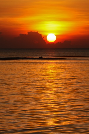 Beautiful sunset in Thailand photo