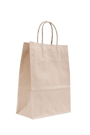 Recyclable paper bag isolated  Stock Photo - 11707142