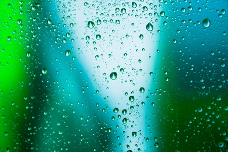 rain drop on abstract background