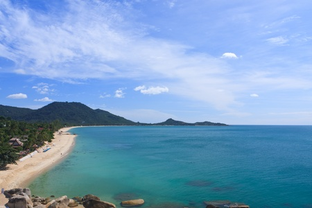 samui: The sea landscape of bird eye view in Thailand