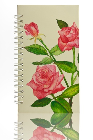 Cover notebook with rose pattern photo