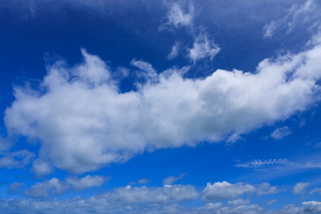 troposphere: Blue sky and field of cloud Stock Photo
