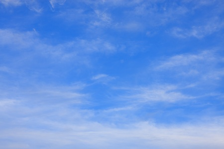 Simple blue sky and white cloud Stock Photo - 12003066
