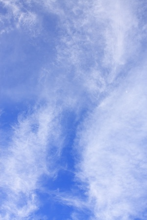 Abstract blue sky and white cloud with the moon photo