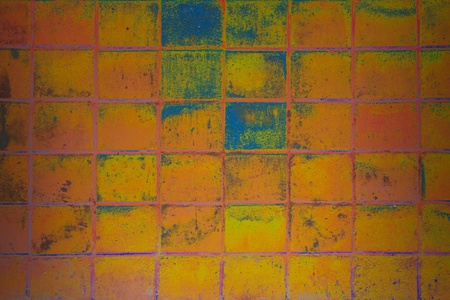 abstract color surface of old brick  wall background photo
