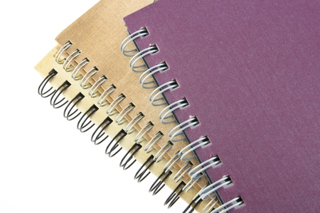 stack of ring binder book or notebook isolated photo