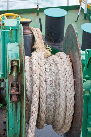 Ship rope and knot photo