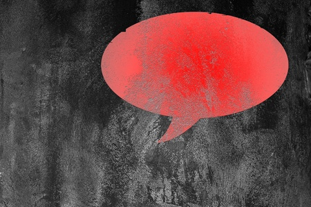 red blank Speech Bubble on abstract  dark  background Stock Photo - 12657338