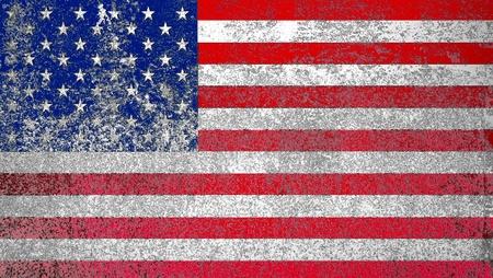 Grunge American flag background Stock Photo - 12657318