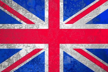 england flag: Union Jack or United Kingdom or British or England flag artwork on abstract grunge background Stock Photo