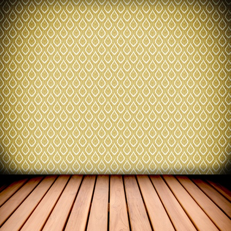 retro native Thai style wall and wood floor Stock Photo - 12657268