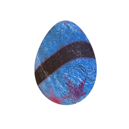 abstract of beach landscape on easter egg isolated on white photo