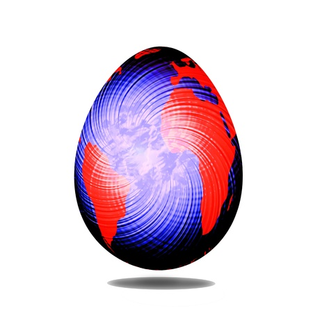 colorful easter egg wth earth abstract isolated on white background Stock Photo - 12938659