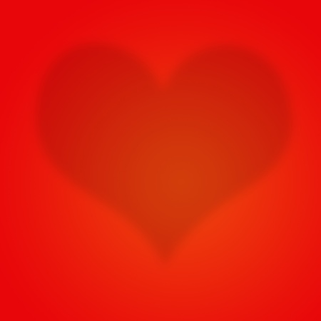 red heart on red wallpaper Stock Photo - 13181274