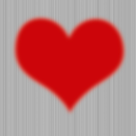 Red heart on plank wood wallpaper photo