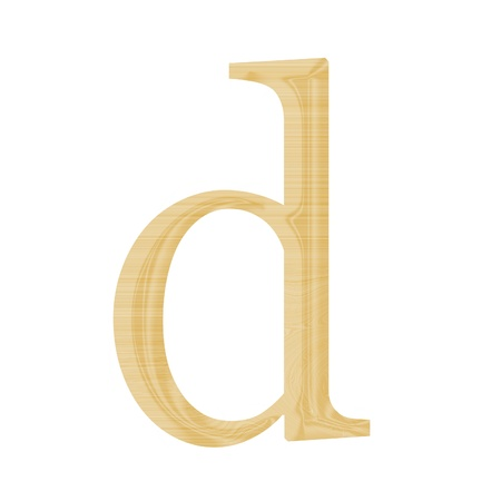 One letter of wooden alphabet isolated on white Stock Photo - 13268421
