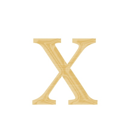 One letter of wooden alphabet isolated on white Stock Photo - 13268411