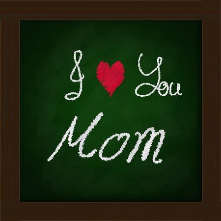 green blackboard  in classroom    Happy mother Stock Photo - 13568145