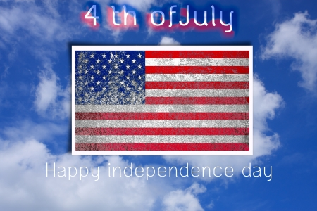 preamble: grunge United States flag of independence day in nature Stock Photo