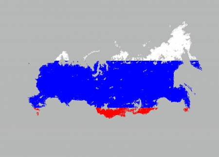 Russia  high resulotion map flag artwork isolated Stock Photo - 13678532