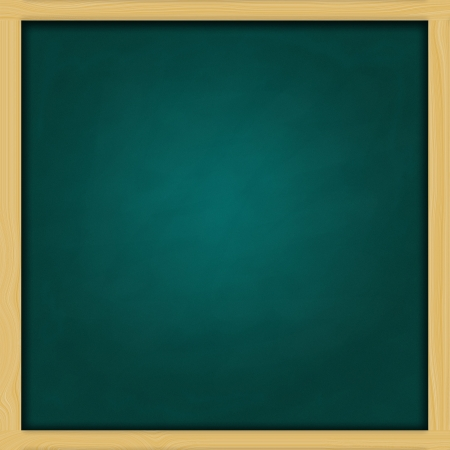 blank square green chalkboard photo