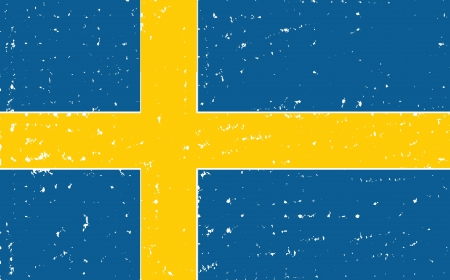 european flag: sweden grunge flag hand drawing isolated Stock Photo
