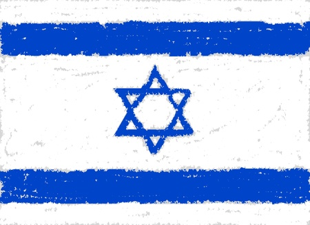 israel  grunge flag hand drawing isolated photo