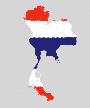thailand grunge flag map hand drawing isolated photo