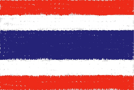 Thailand grunge flag hand drawing isolated photo