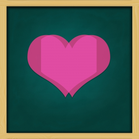 Love Background and green chalkboard frame   conceptual Stock Photo - 13964435