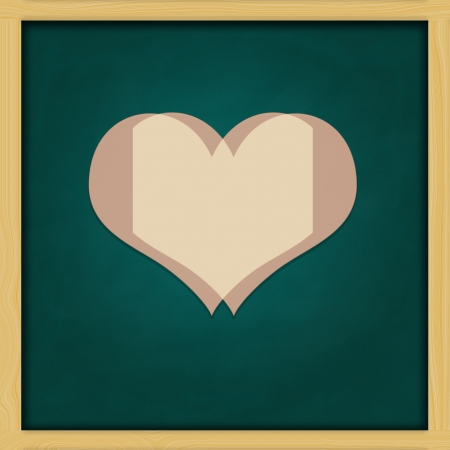 Love Background and green chalkboard frame   conceptual Stock Photo - 13964434
