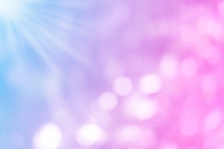 purple, blue and pink pastel colorful background bokeh blurred and morning lights background Stock Photo