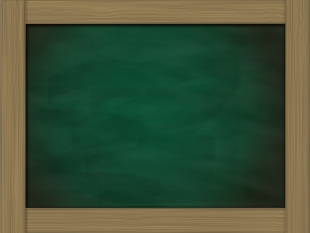 blank grunge green chalkboard and wood frame Stock Photo - 14031878