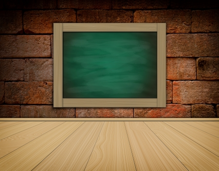 grune: grune black chalkboard on old brick wallbackground