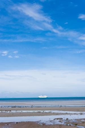 View of big cruise floting at Samui island,Thailand photo