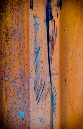 color paint splatters on zinc grunge steel wall background texture photo