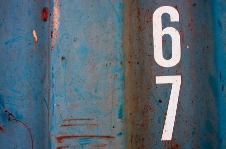 numeric on grunge blue steel  texured as background photo