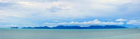seascape panoramic view of Samui island,Thailand photo