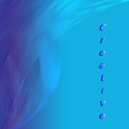 attractive artwork of creative wording on line   abstract  blue background  photo