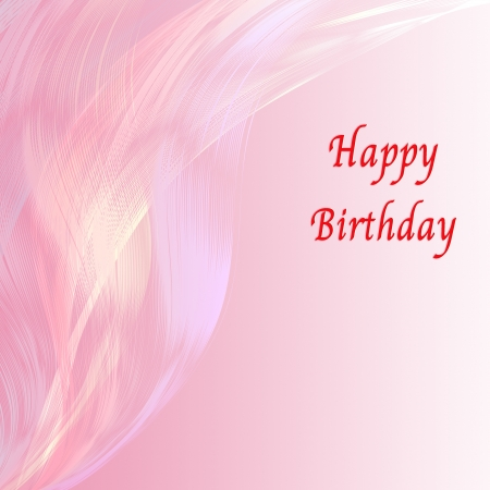 dusky: Happy birthday card with pink line attractive background