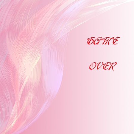 attractive artwork of love wording on line abstract  pink background. photo
