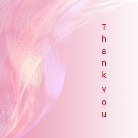 fell: Thank you card with pink line attractive background Stock Photo