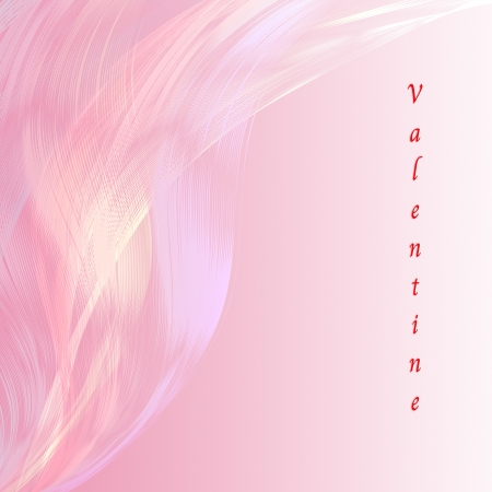 attractive artwork of valentine wording on line abstract  pink background. photo
