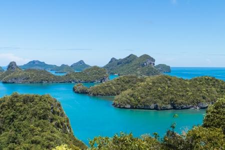 angthong: Landscape Bird Eye View of Angthong National Marine Park, Ko samui,Thailand