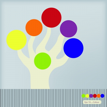 Hand color theme vector design Stock Vector - 17990500