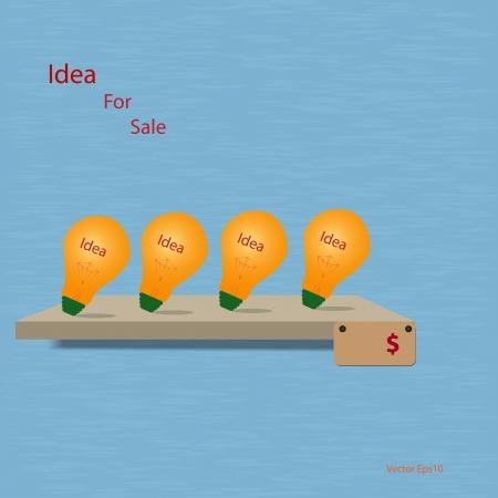 Vector idea for sale on shelf Stock Vector - 18327984