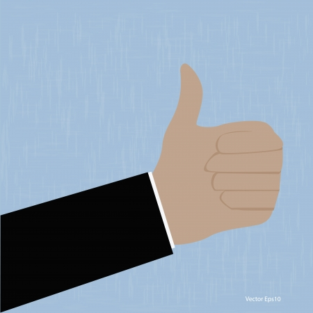 Like Thumbs Up symbol  vector Eps10 illustration Stock Vector - 18216701